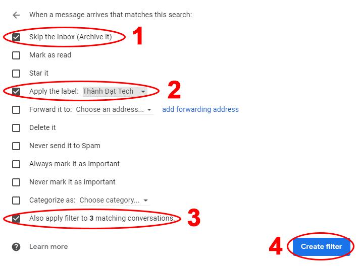 Tạo Rule Cho Gmail Như Thế Nào ?