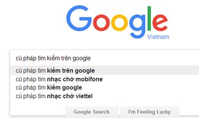 Cú Pháp Tiềm Kiếm Trên Google