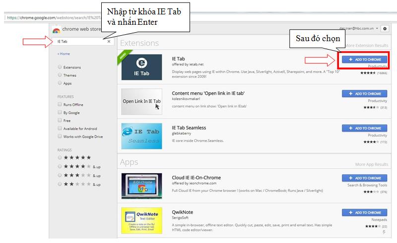 Hướng Dẫn Cài IE Tab Trên Chrome Thay Thế Internet Explorer 8